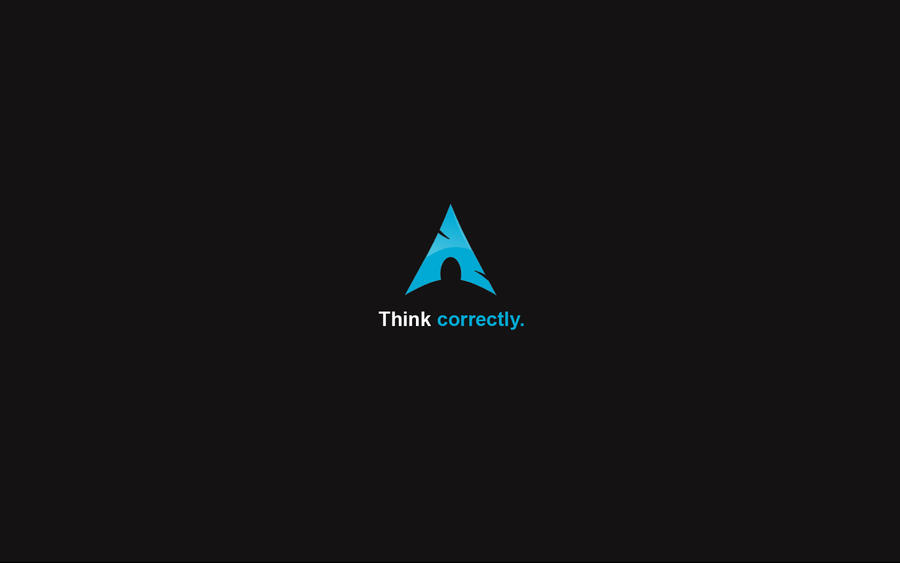Think correctly - Arch Linux