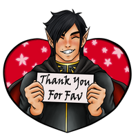 Thank You For Fav by Vampire-Sensei