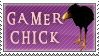 GW Gamer Chick Stamp by Calaval