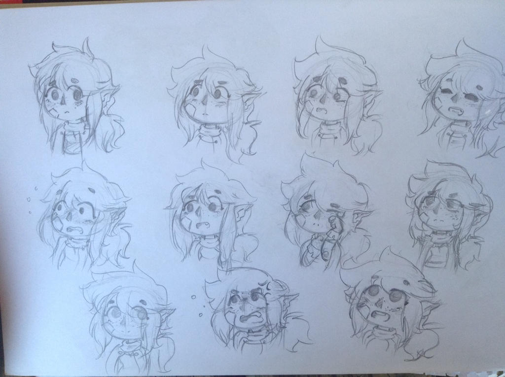 Dragon nerd expression sheet by Franny-draws-shit
