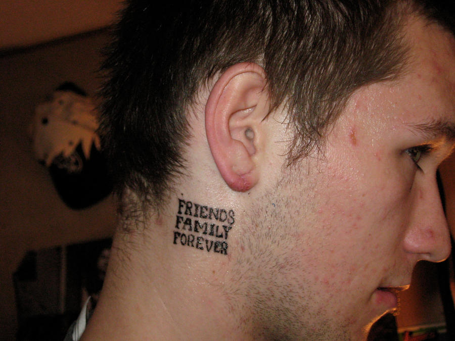 friends family forever tattoo