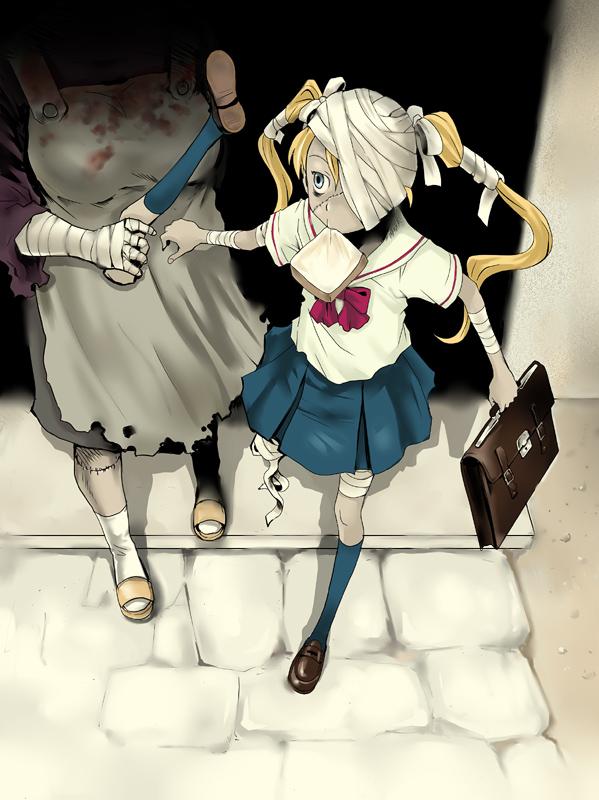 Zombie SchoolGirl by tamaokibenkyo