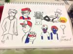 Monstercat Halloween Sketches by iamthek3n