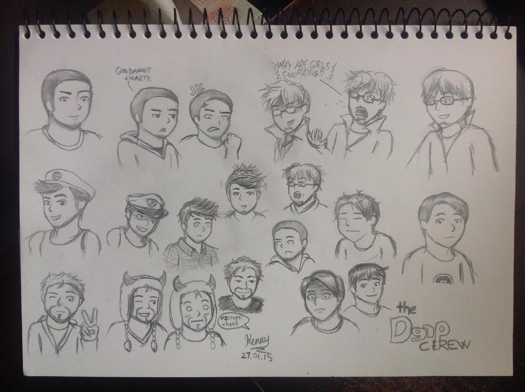 Derp Crew Sketch Dump by iamthek3n