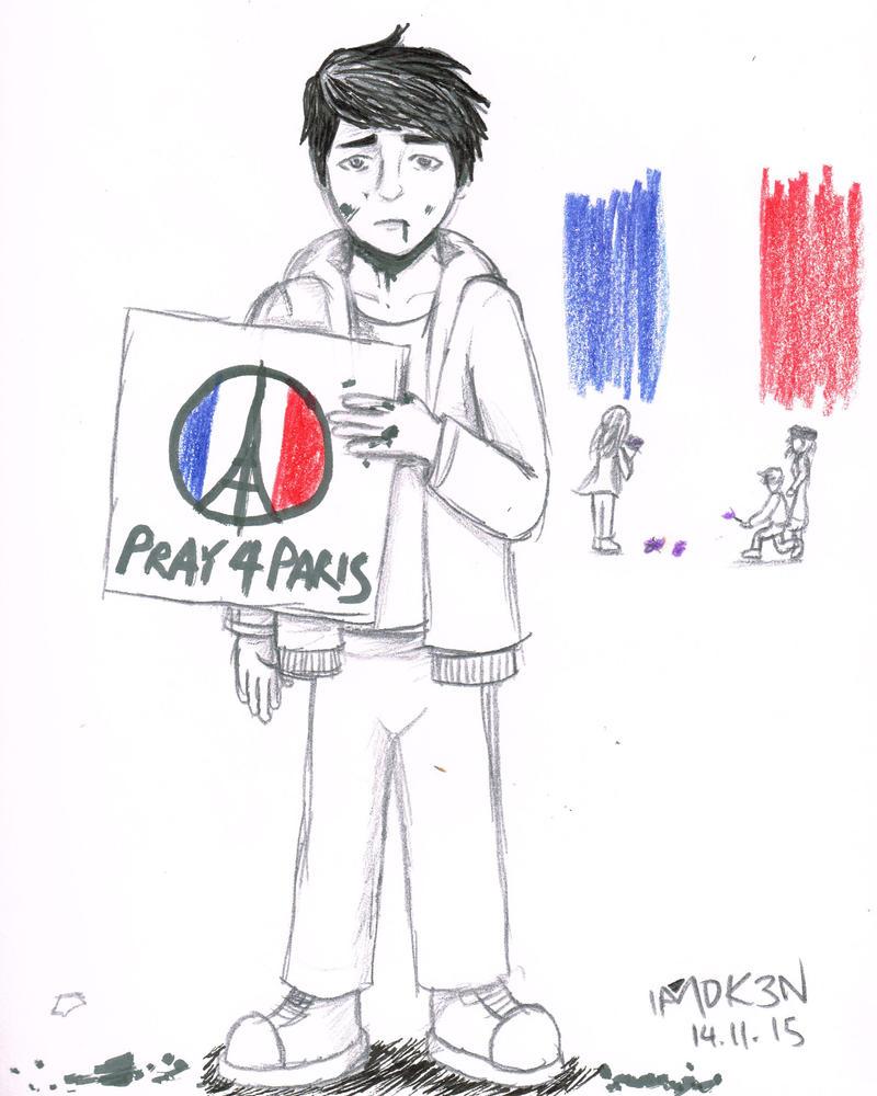 Pray 4 Paris by iamthek3n