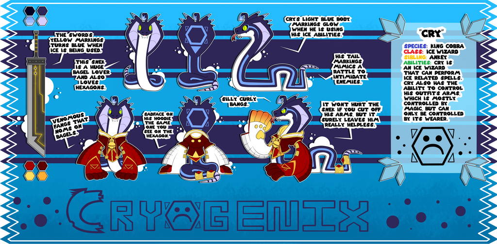 Cry the Snake - Reference Sheet UPDATE by Cryogenix-I on