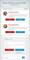 Web UI Elements Kit PSD
