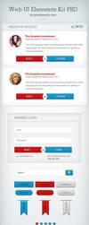 Web UI Elements Kit PSD by pixelzeesh