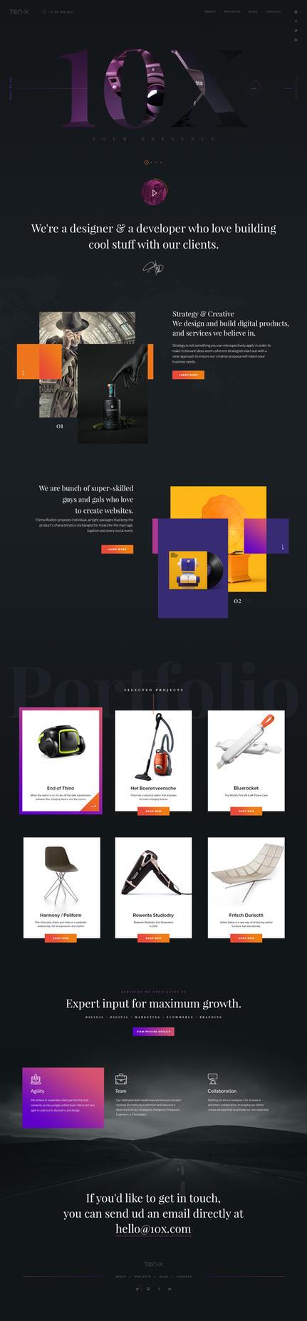 10X - Free PSD by pixelzeesh