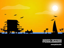 Sunset by pixelzeesh