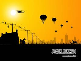 Love Parachute by pixelzeesh