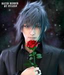 Noctis with rose 2 by Sintikliasims