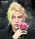 Prompto with rose 2 by Sintikliasims