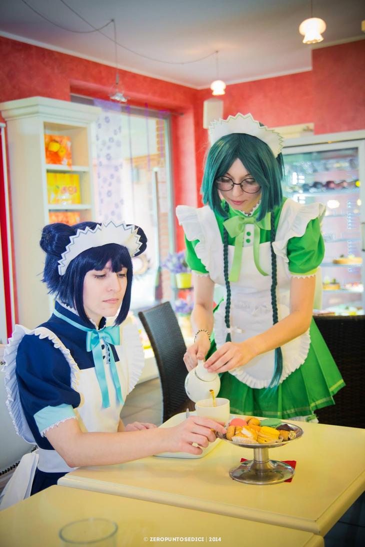 Mew Mint and Mew Lattuce by Hotaru--Tomoe