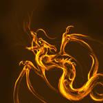 fire dragon sketch