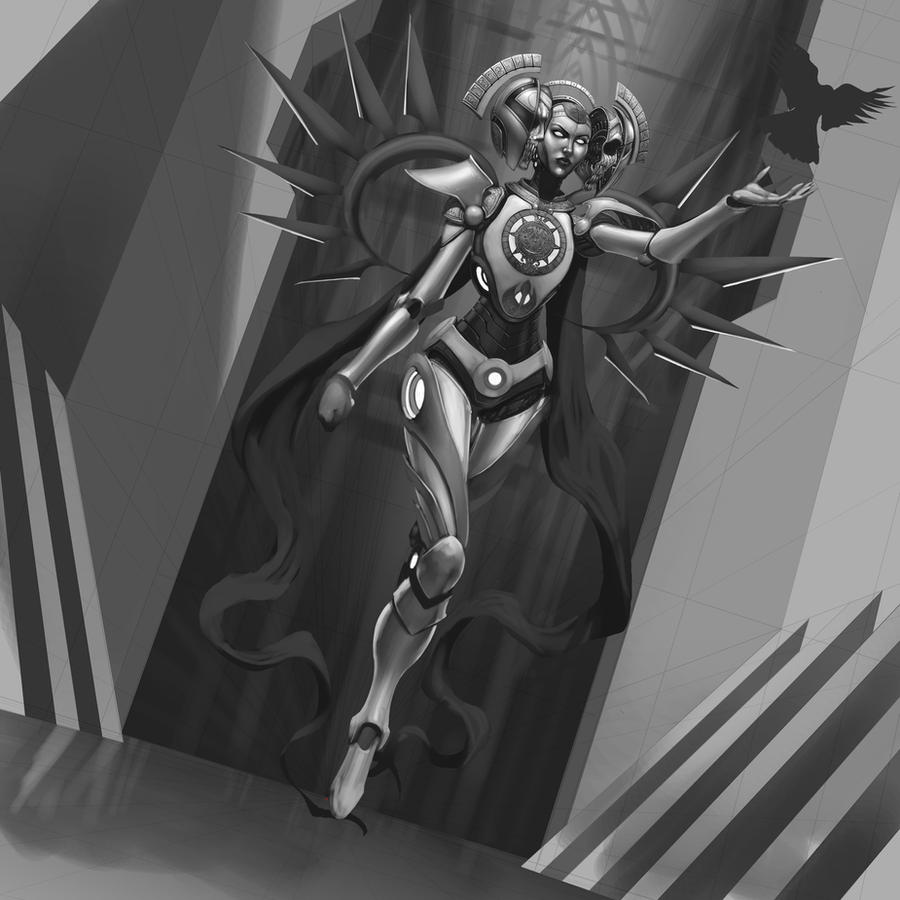 Prophet greyscale WIP by JomaroKindred