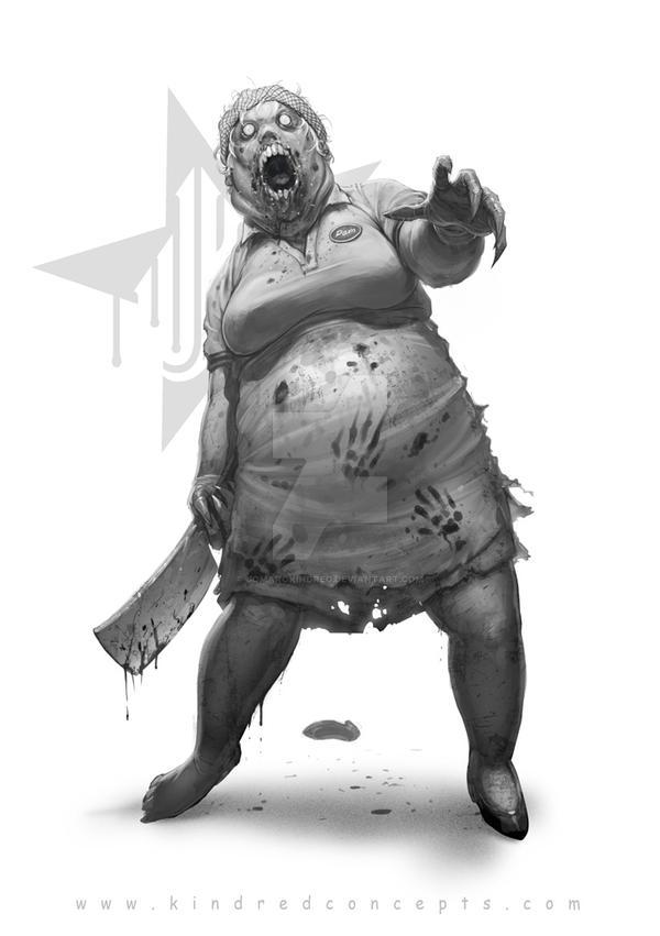 zp fanart zombie lunch lady by jomarokindred on deviantart
