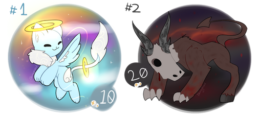 (CLOSED) Angel/Demon Adopts by Shinyprowl