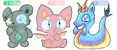 (CLOSED) Adoptable Batch - Squishy by Shinyprowl