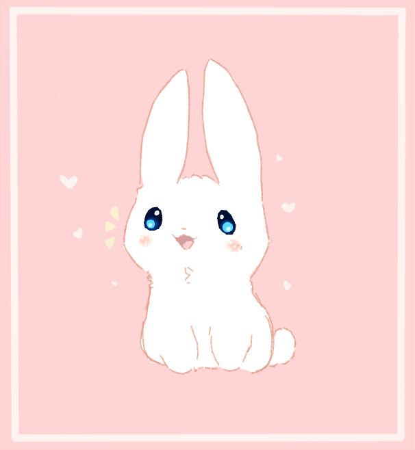 Kawaii Happy Bunny