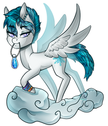 Snowflake on a cloud by TheGalaxyRose