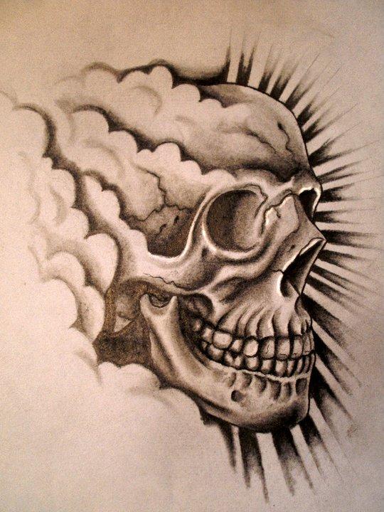 happy skull tattoo design by danleicester on deviantart. Black Bedroom Furniture Sets. Home Design Ideas