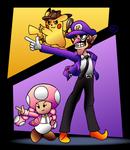 Detective Pikachu and Waluigi