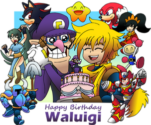 Happy Birthay Waluigi by SuperAlfredoUniverse