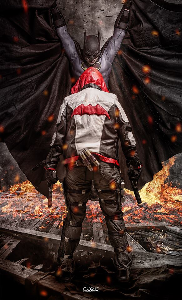 Batman vs Red Hood - cosplay photoshooting by Tenraii