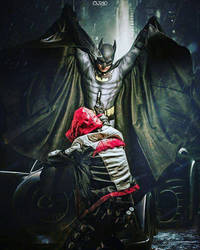Batman vs Red Hood cosplay  - Come at me! by Tenraii