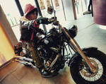 Red Hood - motorcycling by Tenraii