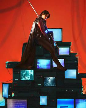Red Robin Tim Drake cosplay monitor