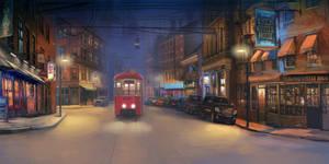 Lonely tram