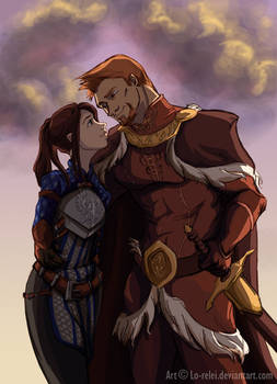 Alistair and Dialeanor - sunset