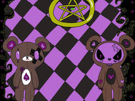 Voodoo bear background