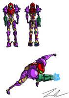 Samus - Gravity Suit Redesign by Ein-Panda