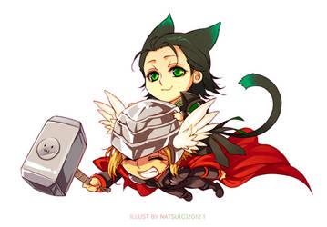 Marvel-Thor and Loki 2 by Athew