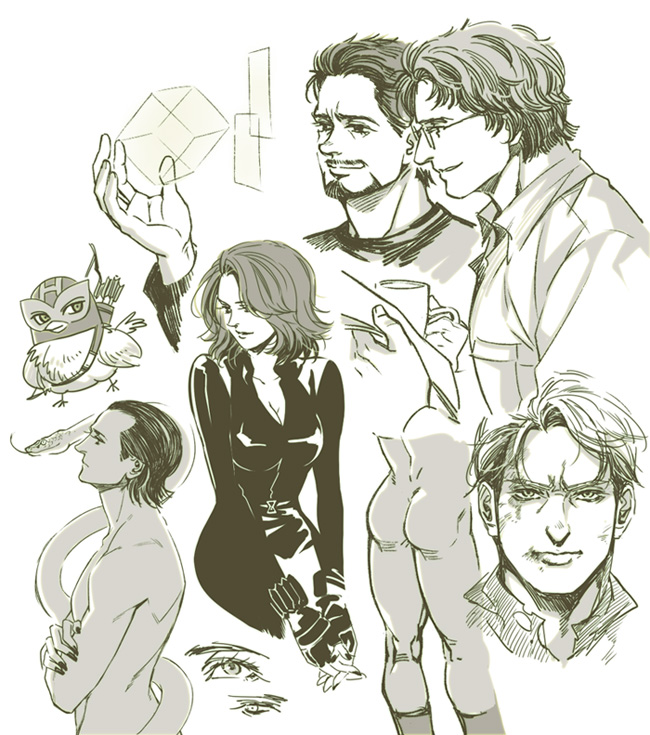The Avengers-sketches-1 By Athew On DeviantArt