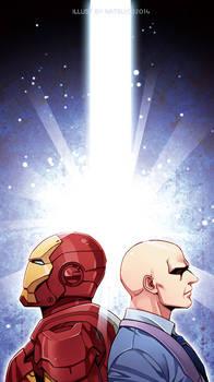 Marvel-Tony and charles