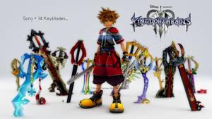 [Kingdom Hearts 3] Sora + 14 Keyblades