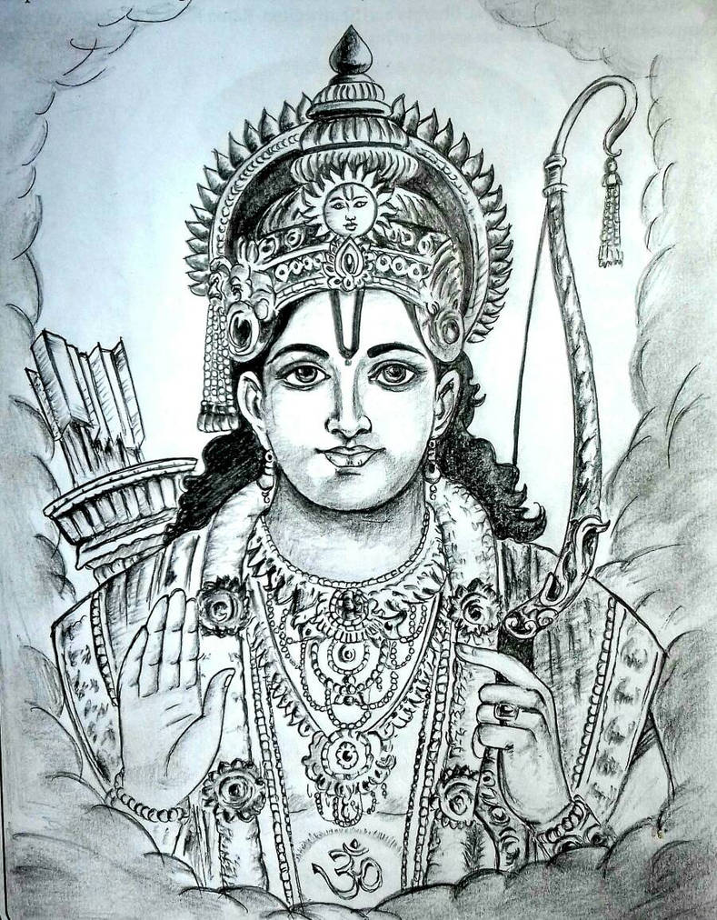 God ram pencil sketch by sdevarao