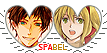 APH SpaBel Hearts Couple Stamp by World-Wide-Shipping
