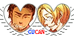 APH CuCan Hearts Couple Stamp by World-Wide-Shipping