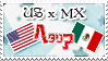 Hetalia US x MX - Stamp by World-Wide-Shipping