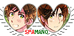 APH Spamano Heart Couple Stamp by World-Wide-Shipping