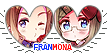 APH FranMona Heart Couple Stamp by World-Wide-Shipping