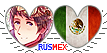 APH RusMex Hearts Couple Stamp by World-Wide-Shipping