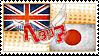 Hetalia AsaKiku Stamp by World-Wide-Shipping