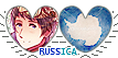 APH Russica Hearts Couple Stamp by World-Wide-Shipping