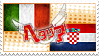 Hetalia ItaCro Stamp by World-Wide-Shipping